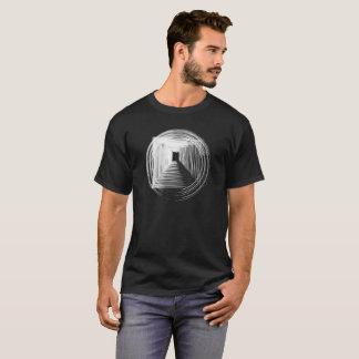 T-shirt géométrique de cercle d'hiver