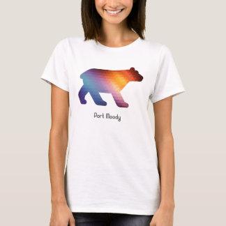 T-shirt 🐻 géométrique déprimé d'ours de port