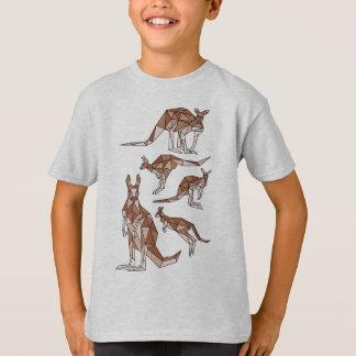 T-shirt géométrique-kangourou-T-shirt