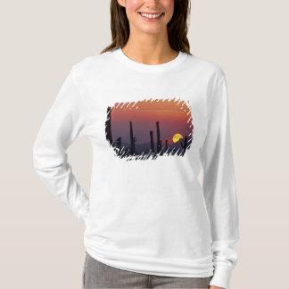 T-shirt Gigantea de Carnegiea de cactus de Saguaro),