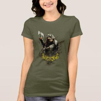 T-shirt Gimli avec le collage de vecteur de hache