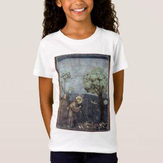 T-Shirt Giotto : St Francis prêchant aux oiseaux