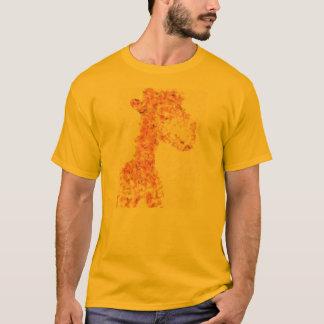 T-shirt Girafe Artsy orange