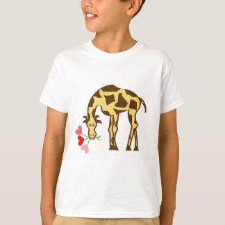 T-shirt Girafe dans l'amour
