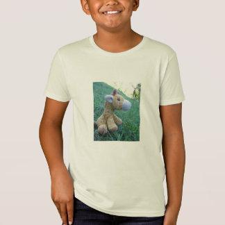 T-Shirt Girafe dans le sauvage - pièce en t d'enfants