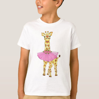 T-shirt Girafe dans le tutu