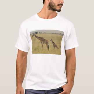 T-shirt Girafe de masai de mère et de bébé, Giraffa 2