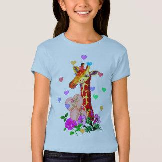 T-shirt Girafe de Saint-Valentin