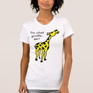T-shirt girafe, je suis ce qui girafe-ter !