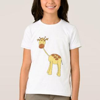 T-shirt Girafe mignonne. Bande dessinée