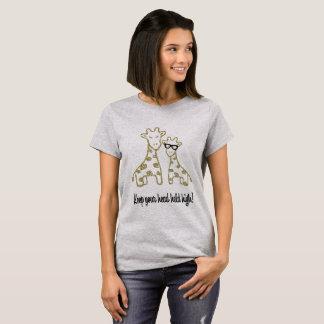T-shirt Girafes de scintillement