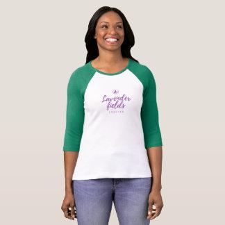 T-shirt Gisements de lavande avec le #back