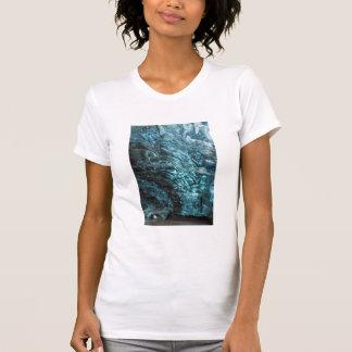 T-shirt Glace bleue d'une caverne de glace, Islande