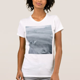 T-shirt Glace et l'eau sur une plage, Islande
