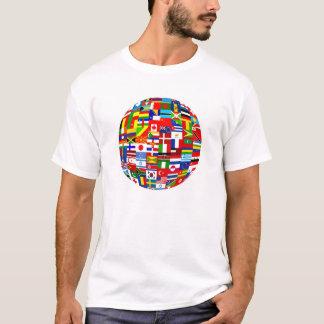 T-shirt Globe de drapeau