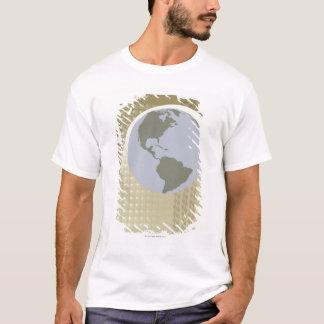T-shirt Globe montrant les Amériques