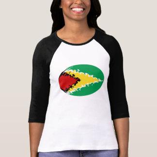 T-shirt Gnarly de drapeau de la Guyane