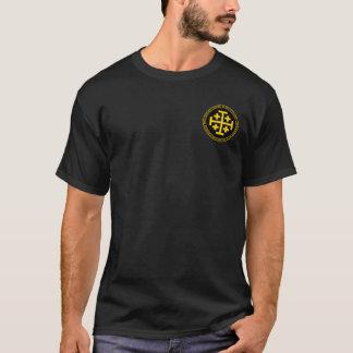 T-shirt Godfrey De Bouillon Black et chemise de joint d'or
