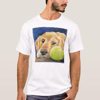 T-shirt Golden retriever drôle avec de la balle de tennis