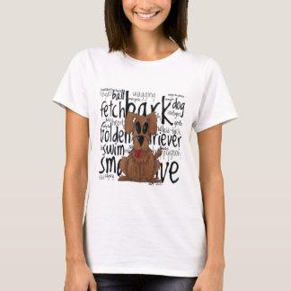 T-shirt Golden retriever lunatique