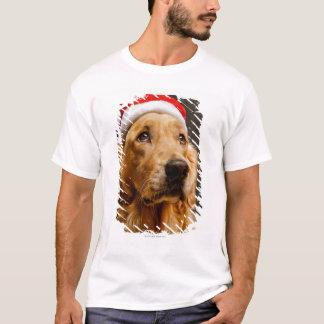 T-shirt Golden retriever posant pour son Noël