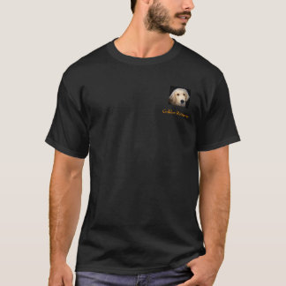 T-shirt Golden retriever T noir