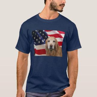 T-shirt Golden retriever toute la chemise américaine