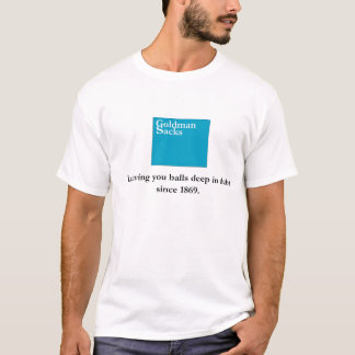 T-shirt Goldman renvoie la banque
