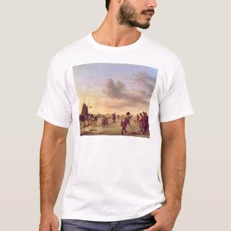 T-shirt Golfeurs sur la glace près de Haarlem, 1668