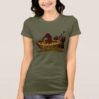 T-shirt Gollum dans un radeau