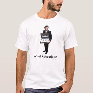 T-shirt GordonBrownSuitcaseWithMoney, quelle récession ?