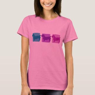 T-shirt Gorge colorée des silhouettes d'Imaal Terrier