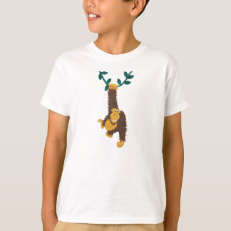 T-shirt Gorille de grimacerie drôle balançant sur la vigne