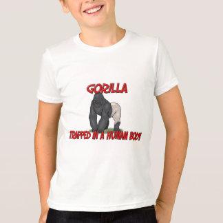 T-shirt Gorille emprisonné à un corps humain