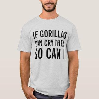 T-shirt gorilles pleurants