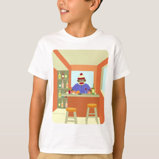 T-shirt Goûteur de vin de singe de chaussette