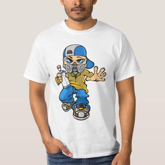 T-shirt Graffiti boy and mask