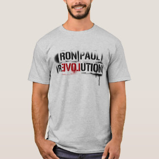 T-shirt Graffiti de pochoir de révolution de Ron Paul