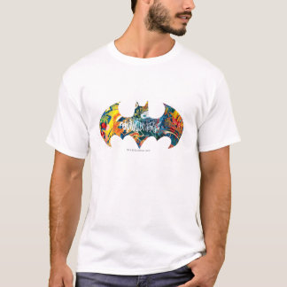 T-shirt Graffiti du logo Neon/80s de Batman