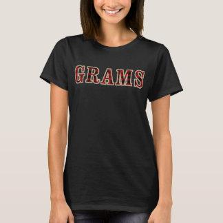 T-shirt GRAMMES de Buffalo noir de carrés rouges rustiques