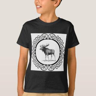 T-shirt grand art d'orignaux de taureau