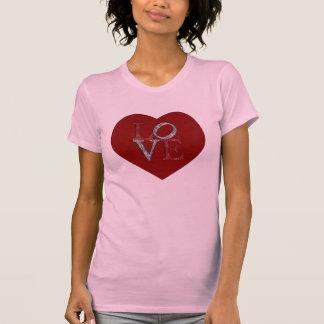 T-shirt Grand coeur avec AMOUR de scintillement !