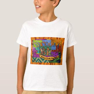 T-shirt Grand collage terreux rêveur