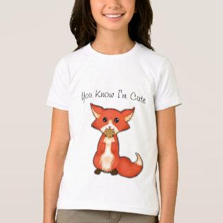 T-shirt Grand Fox observé mignon mangeant un biscuit