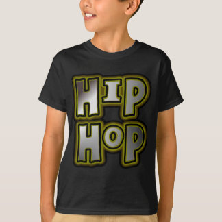 T-shirt Grand graffiti de hip hop multicolore, effets en