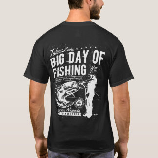 T-shirt Grand jour du lac Tahoe de la pêche