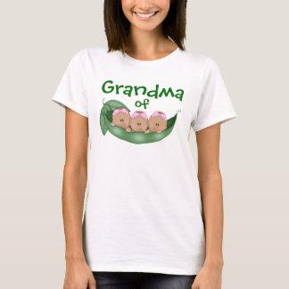 T-shirt Grand-maman des filles de triplet avec la peau
