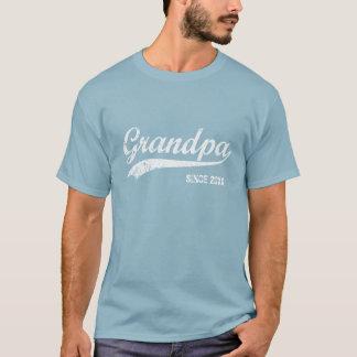 T-shirt Grand-papa blanc vintage des textes depuis [le