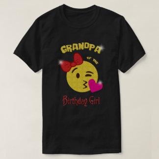 T-shirt Grand-papa de la fête d'anniversaire d'Emoji de