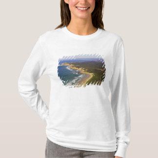 T-shirt Grand phare de point de route et de fente d'océan,
